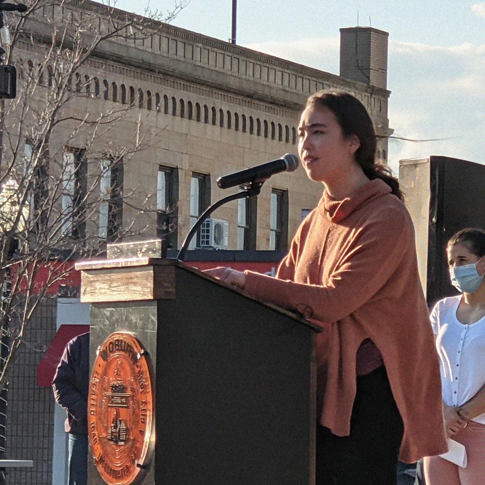 Sophie Ichizawa at the AAPI Vigil